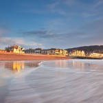 Sandy beach at Sidmouth low tide
