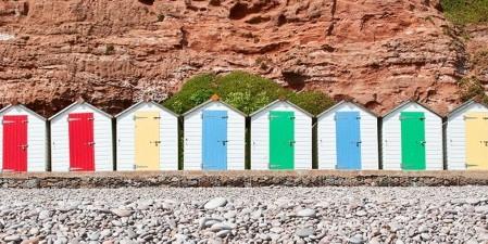 Beach Huts Budleigh