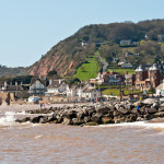 Sidmouth at high tide